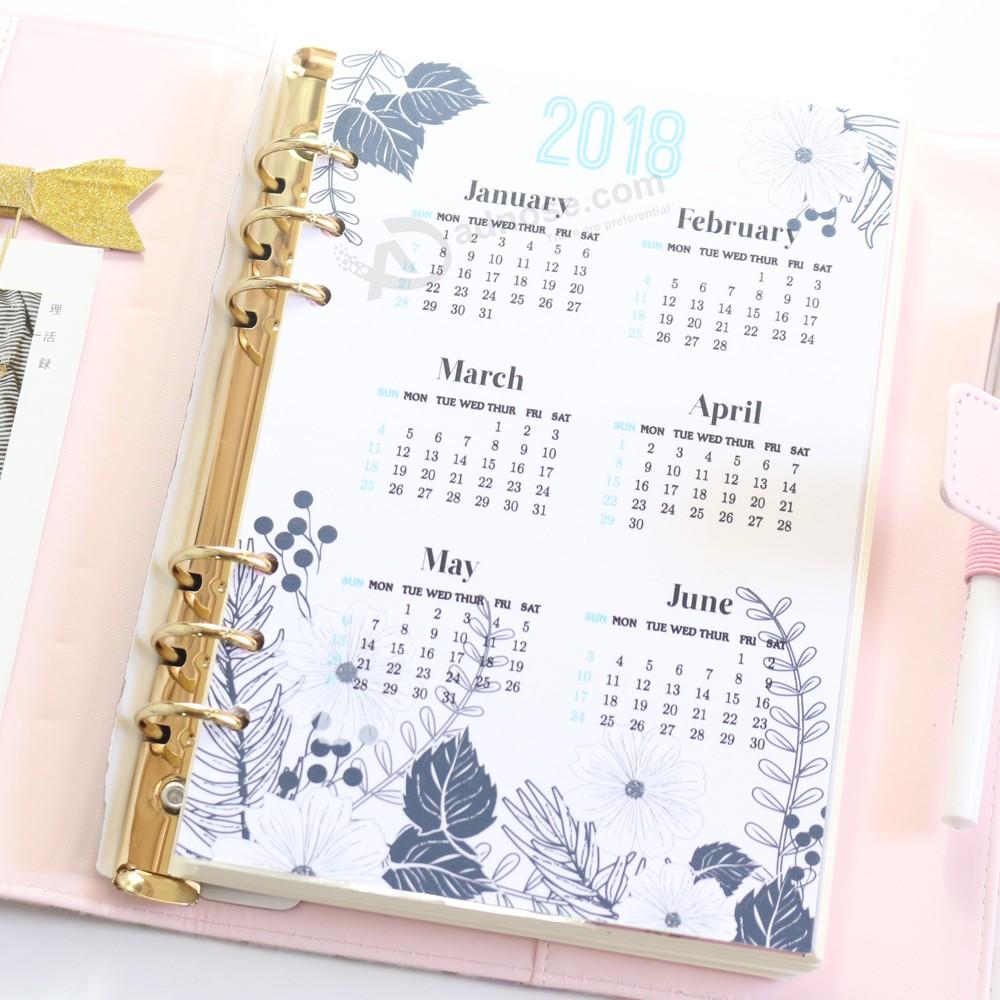 Domikee original creativo lindo 2018 año calendario índice divisor ...